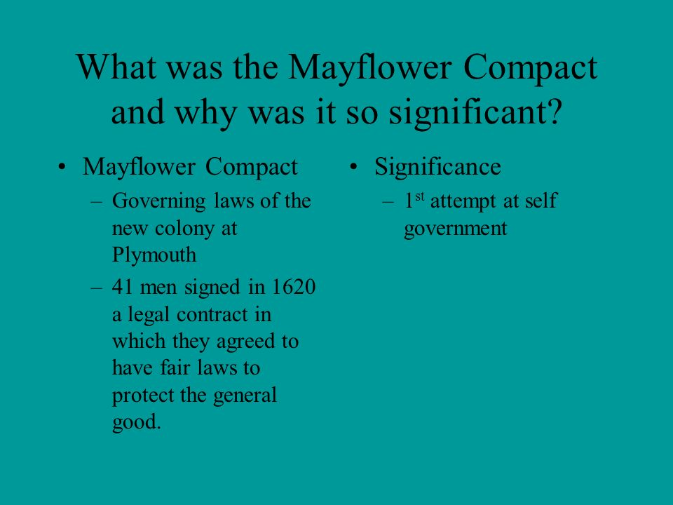 mayflower compact significance