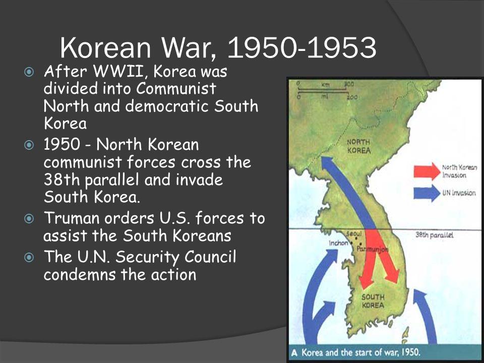 Korean war ppt video online download 2 korean war after wwii gumiabroncs Image collections