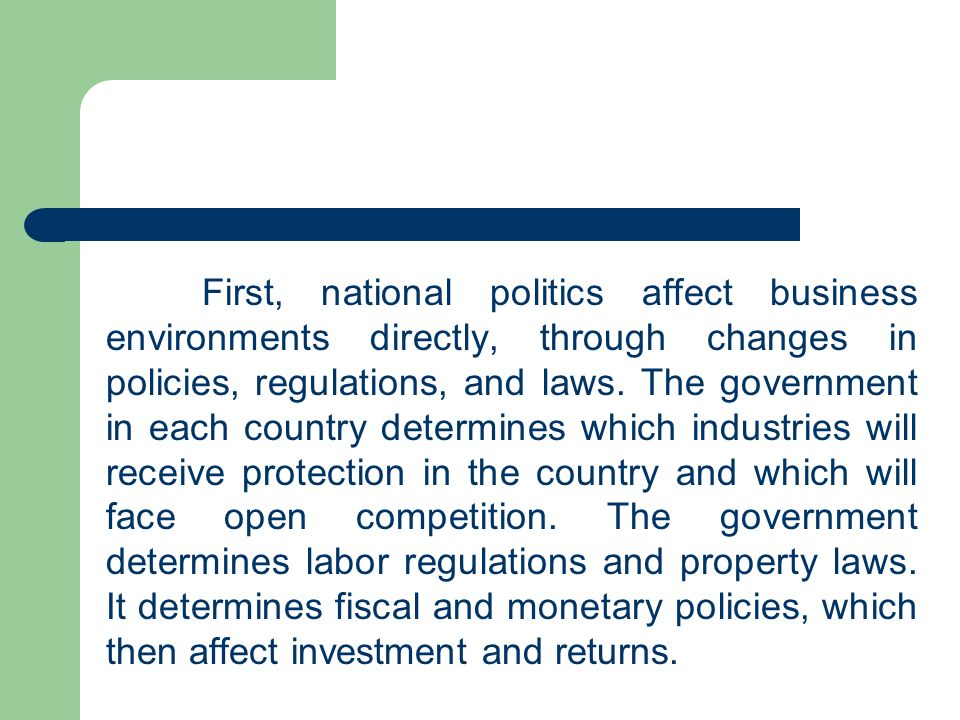 how government policies affect business