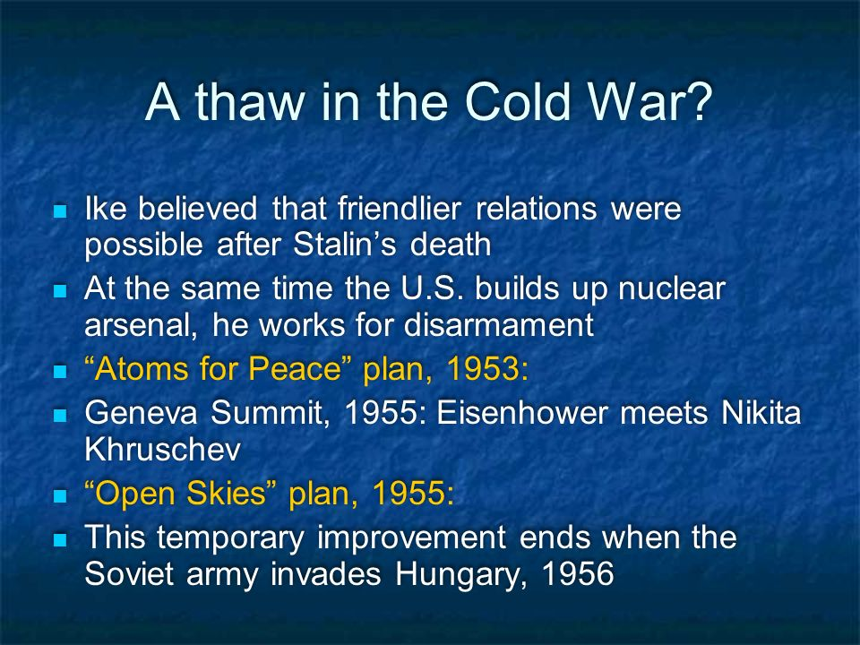 Eisenhower's Adventures in the Cold War - ppt download