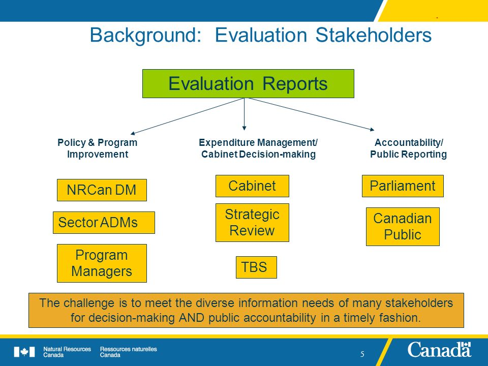 Background: Evaluation Stakeholders