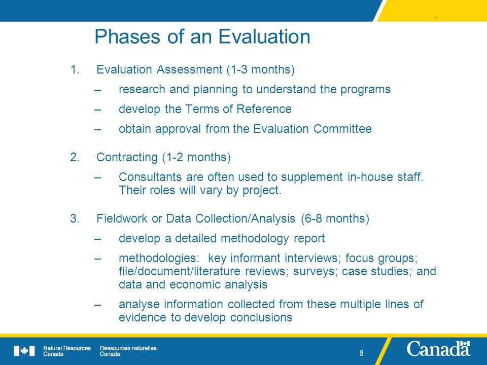 Phases of an Evaluation