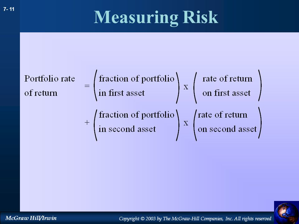 Measuring Risk 19