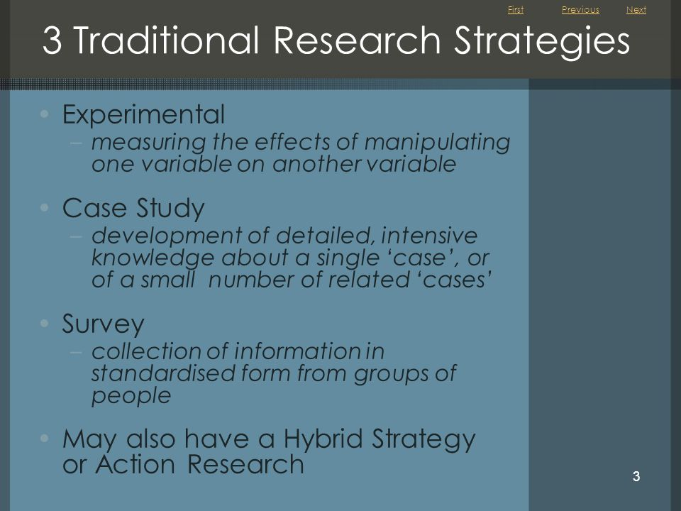 3 Traditional Research Strategies