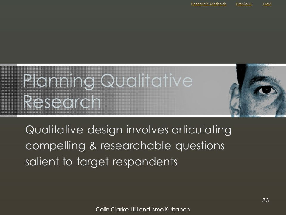 Planning Qualitative Research