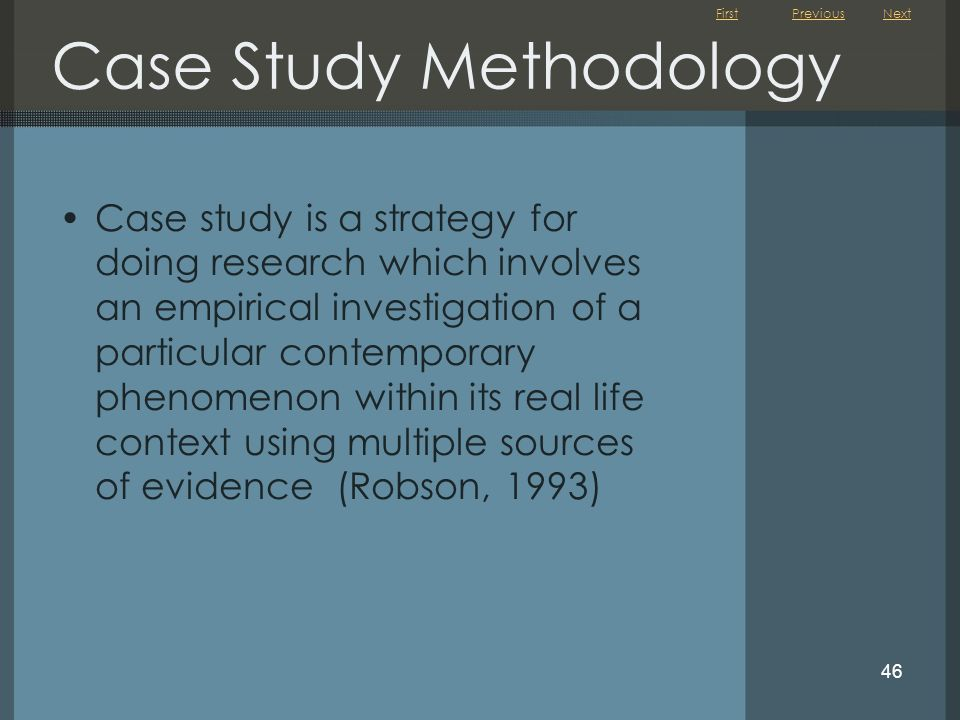 Case Study Methodology
