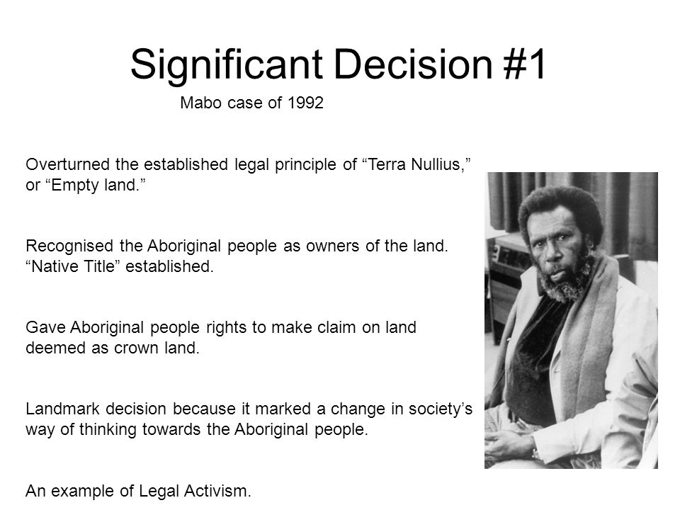mabo case significance