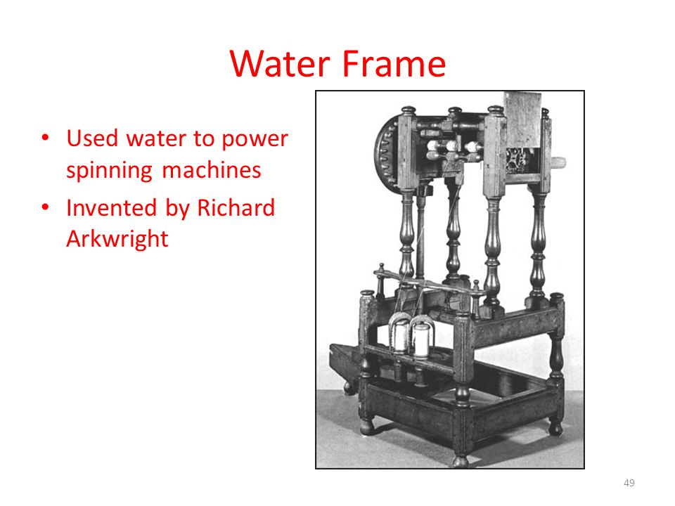 When Was The Water Frame Invented - Water Ionizer