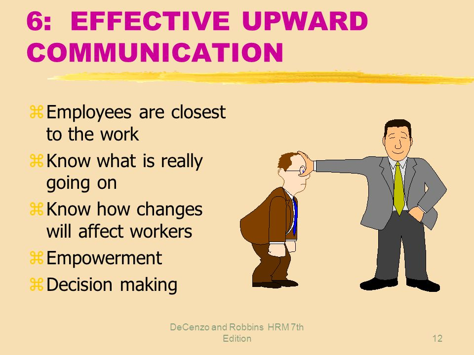 6: EFFECTIVE UPWARD COMMUNICATION