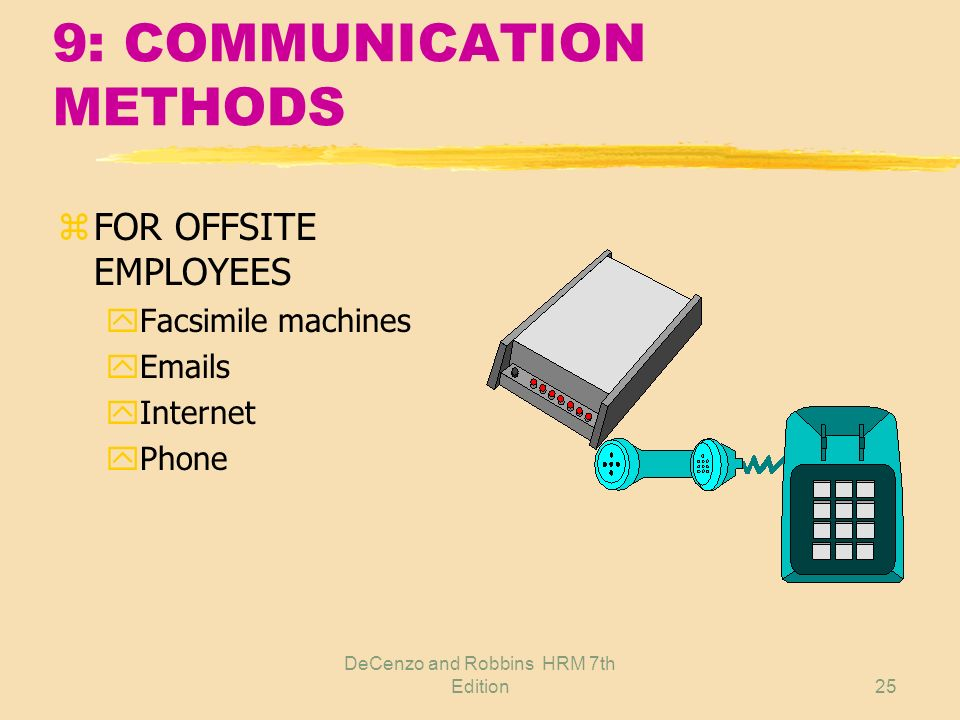9: COMMUNICATION METHODS