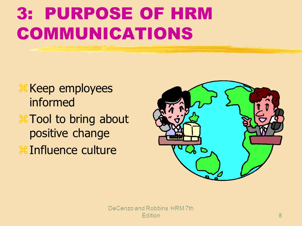 3: PURPOSE OF HRM COMMUNICATIONS