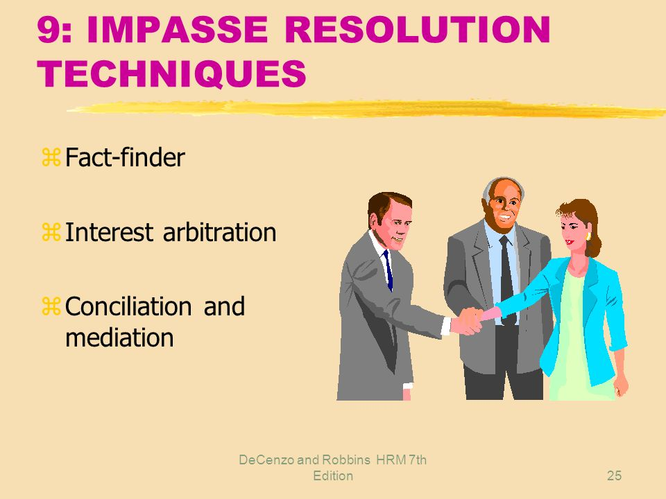9: IMPASSE RESOLUTION TECHNIQUES