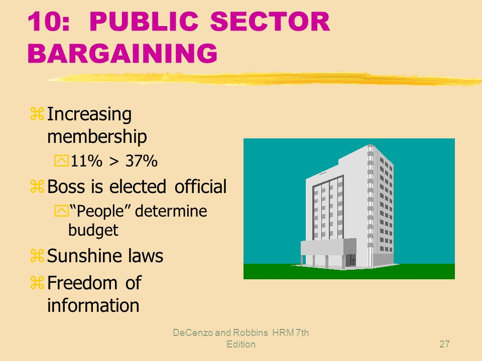 10: PUBLIC SECTOR BARGAINING