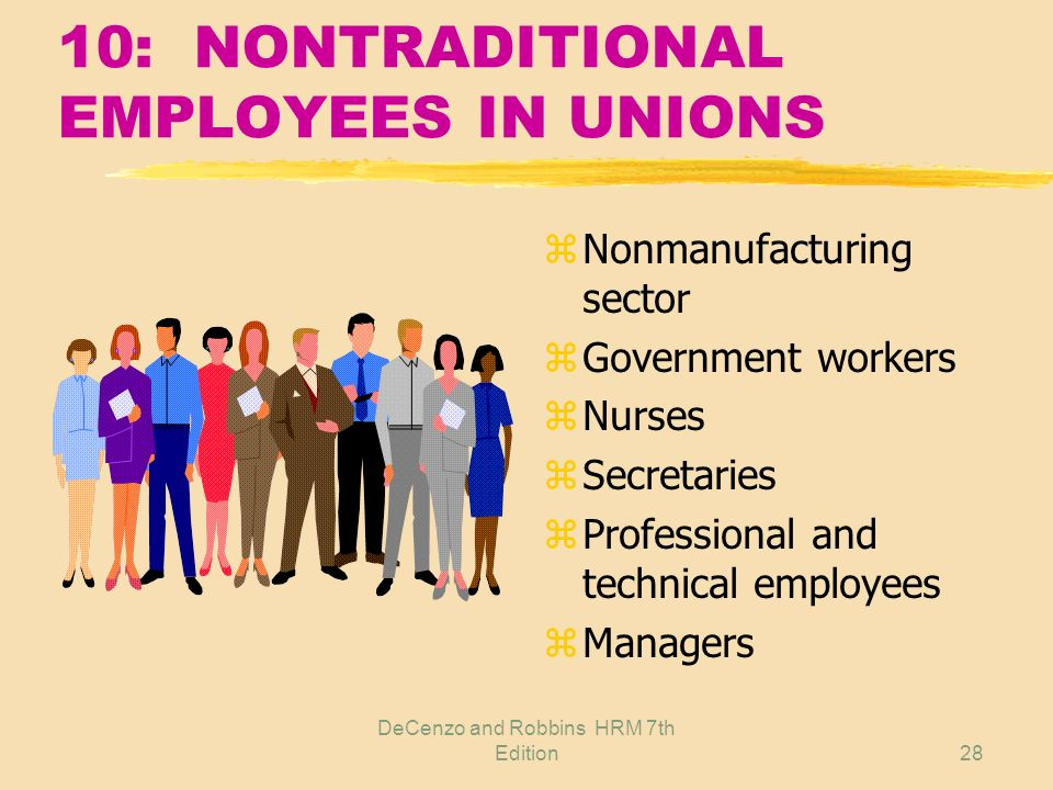10: NONTRADITIONAL EMPLOYEES IN UNIONS
