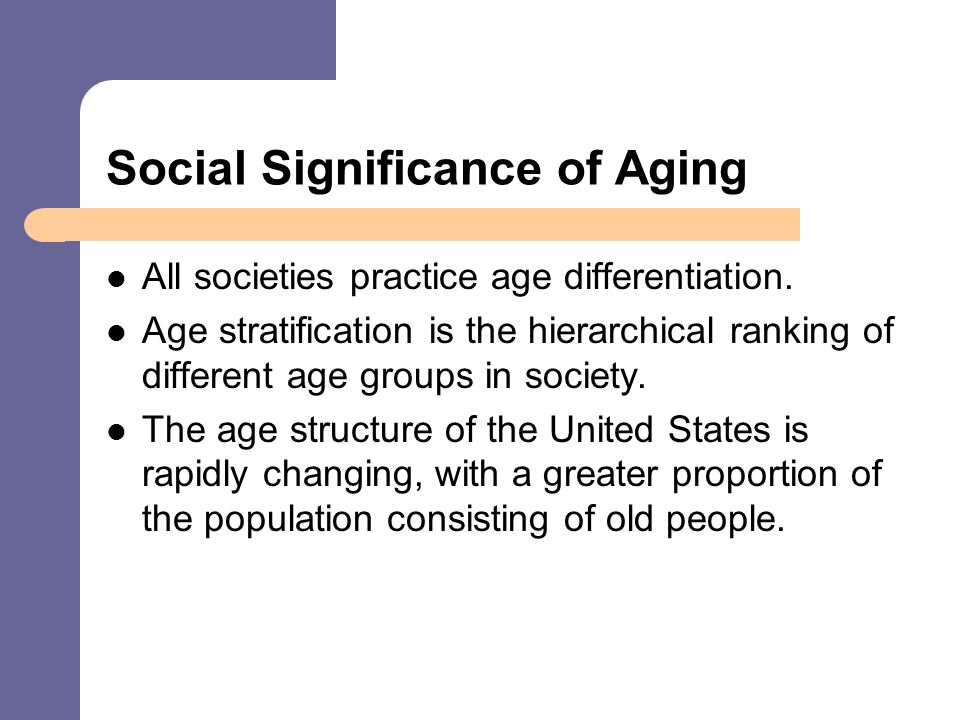 age stratification sociology