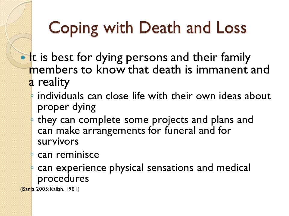 Coping with Death and Loss