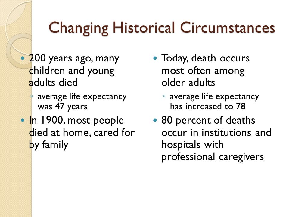 Changing Historical Circumstances