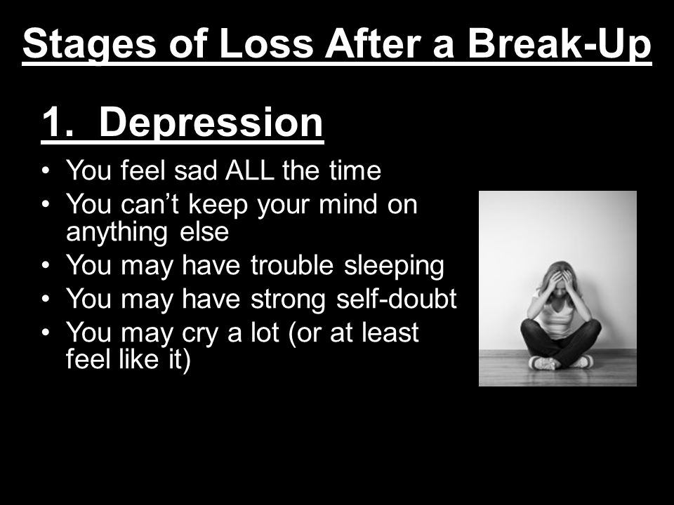 How to overcome depression after a break up