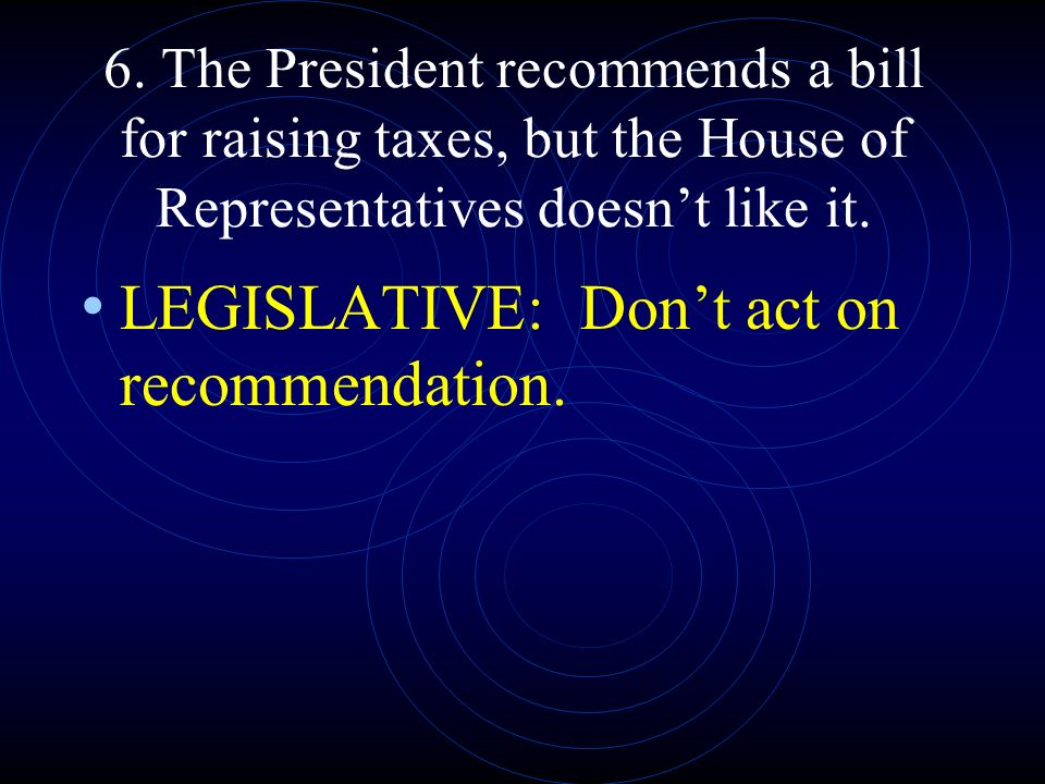 LEGISLATIVE: Don't act on recommendation.