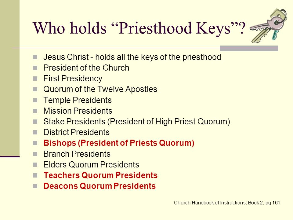 Teaching Aaronic Priesthood Quorum Presidencies To Preside Ppt