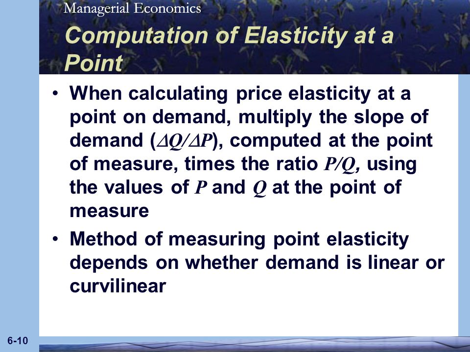 Computation of Elasticity at a Point