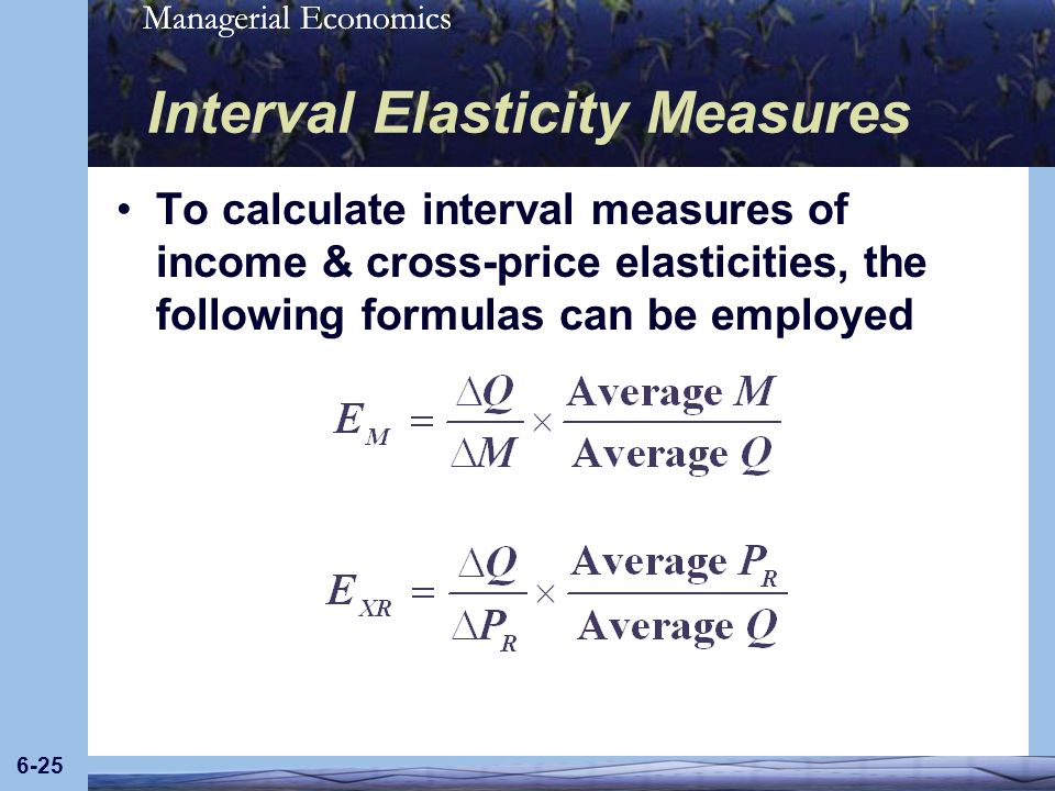Interval Elasticity Measures