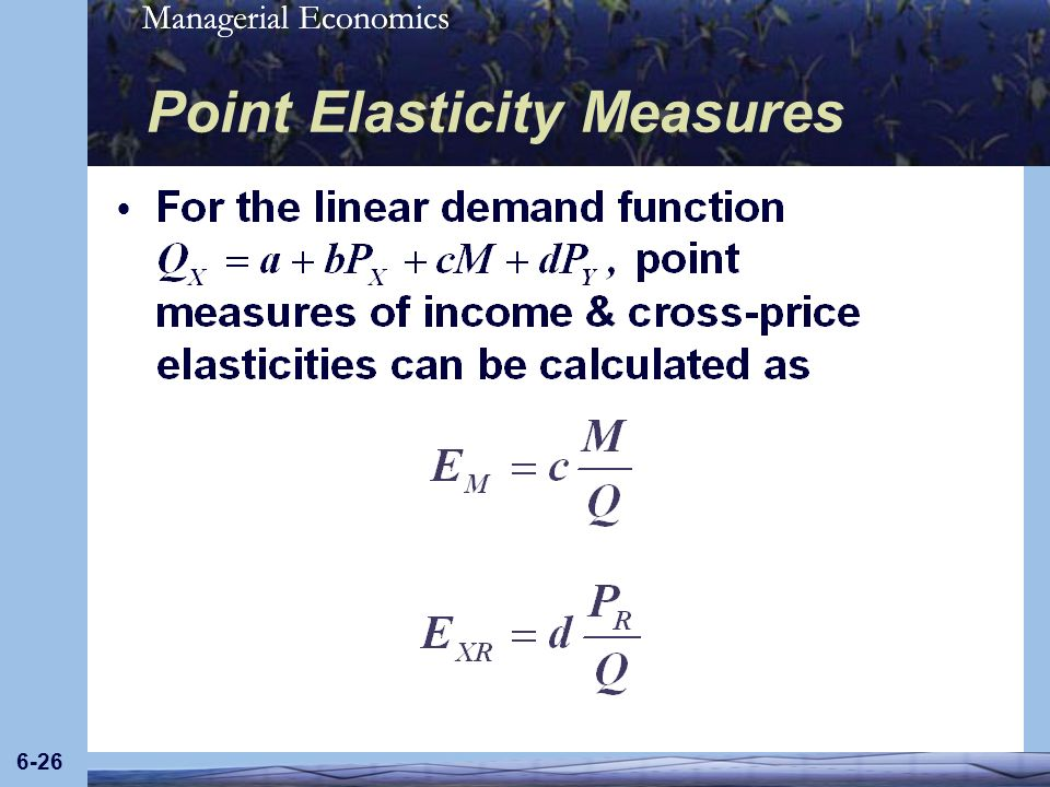 Point Elasticity Measures