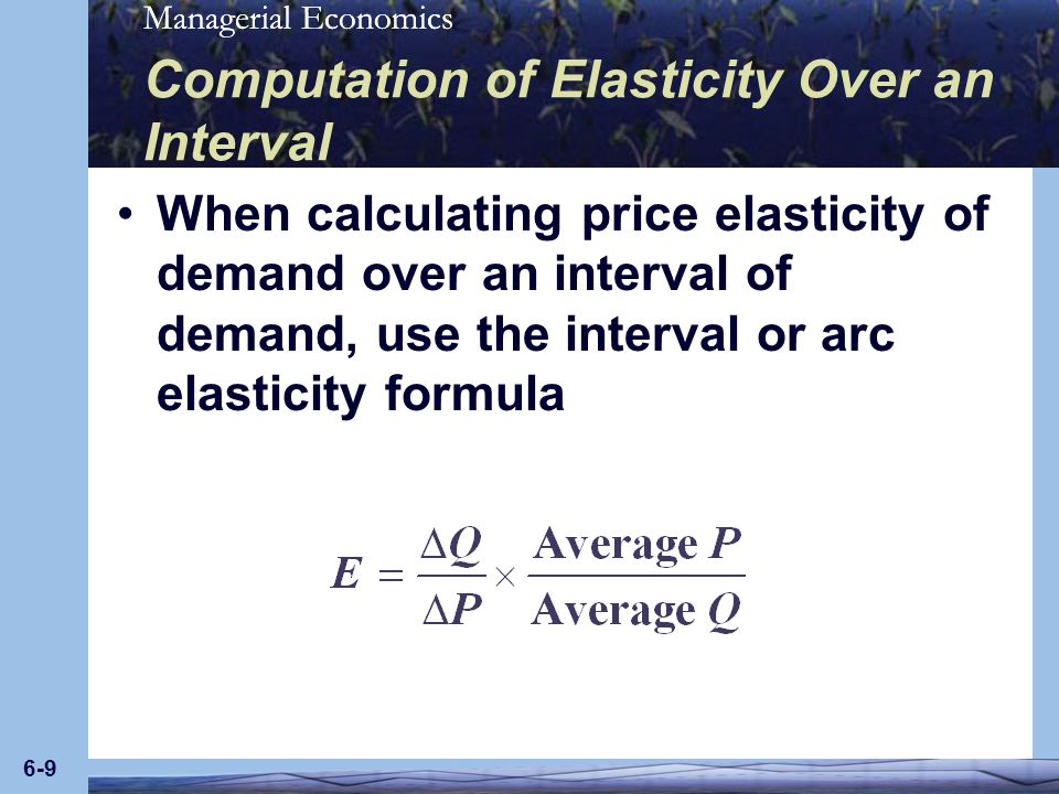 Computation of Elasticity Over an Interval