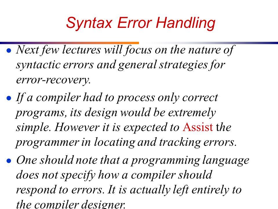 Error Handling Lecture On 27 08 2013 Ppt 11cs10037 Sahil Arora