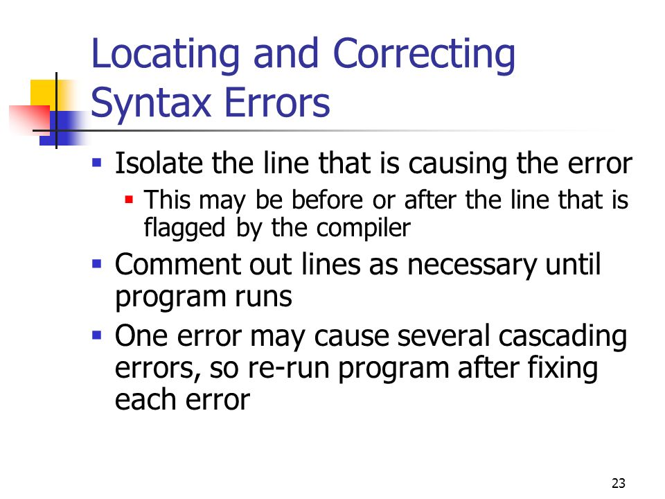 Locating and Correcting Syntax Errors
