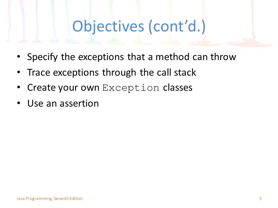 Chapter 12: Exception Handling - ppt video online download