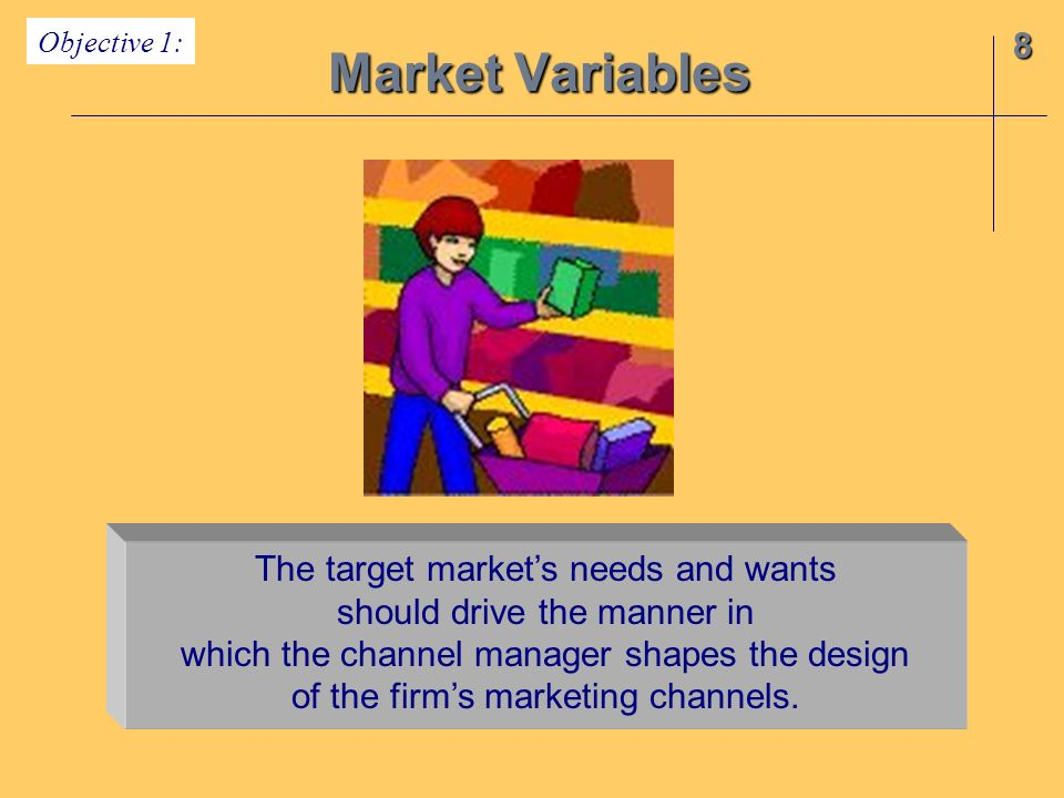 Market Variables 8 The target market's needs and wants