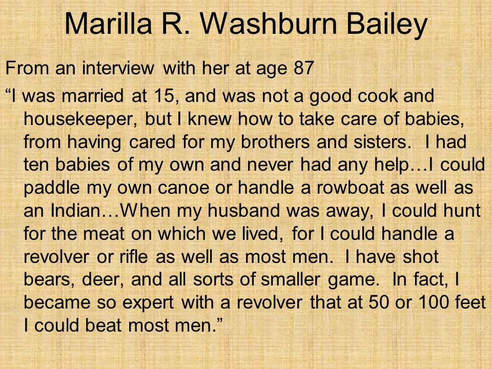 Marilla R. Washburn Bailey