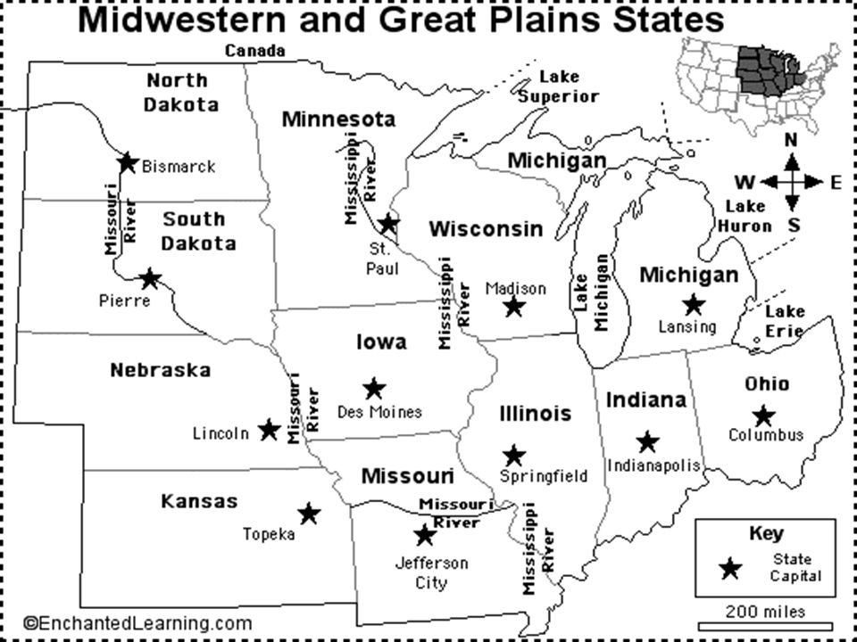 map of plains states