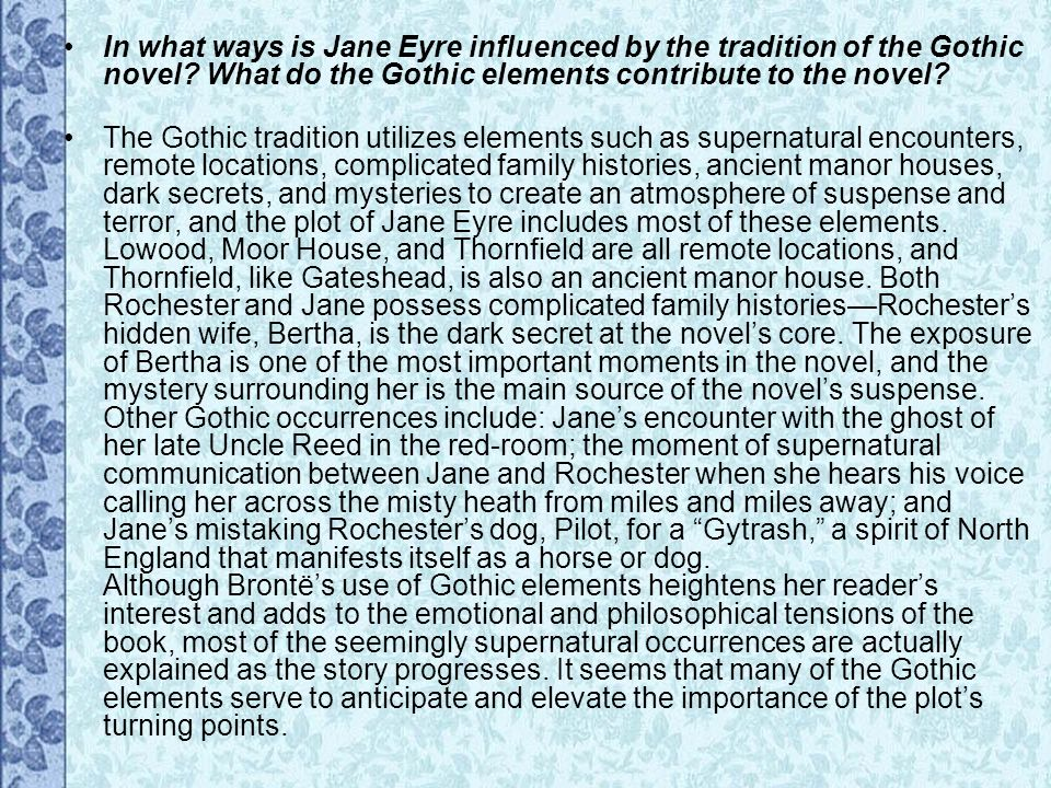 supernatural elements in jane eyre