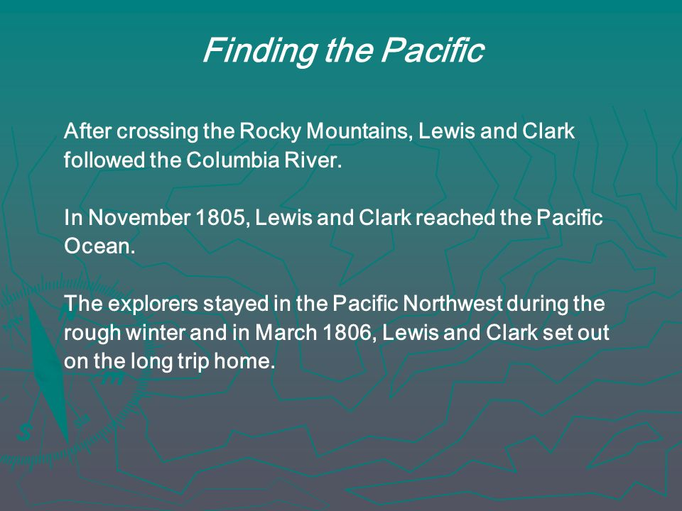 Finding the Pacific