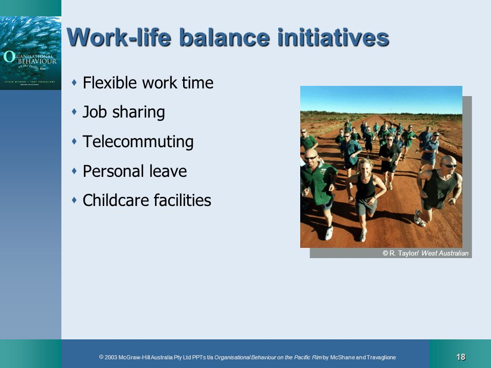 Work-life balance initiatives