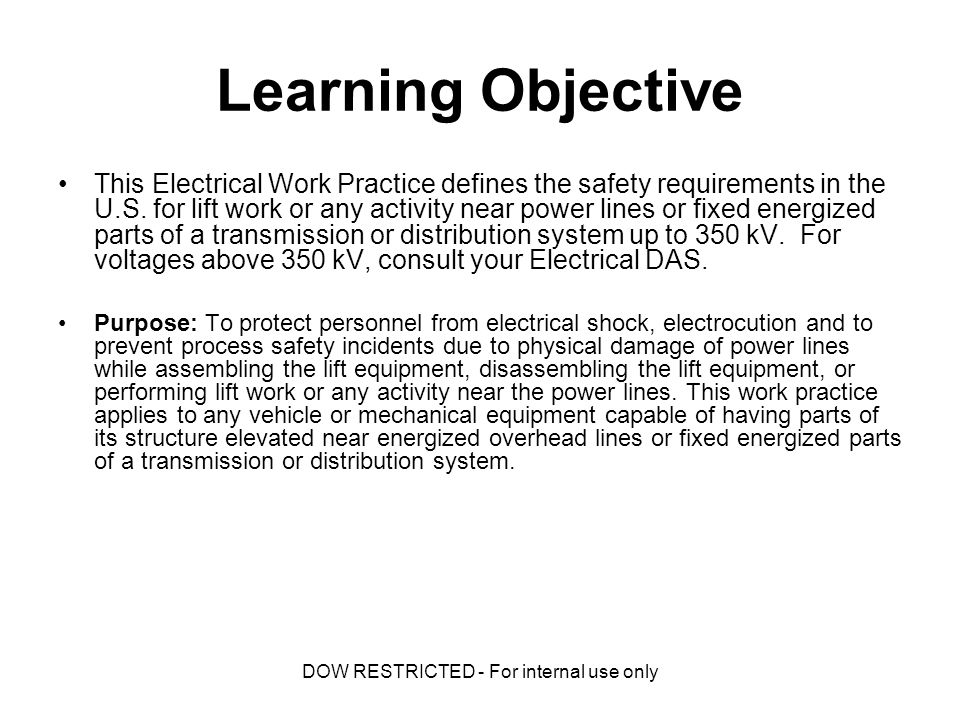 EWP-13 Elevated Equipment Near Power Lines (US Requirements