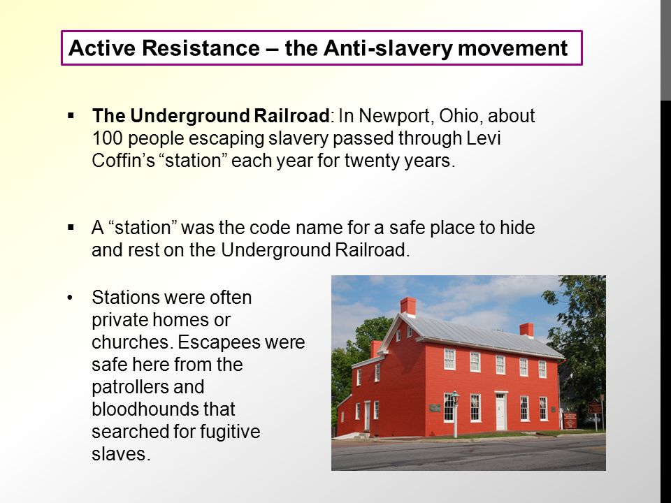 which is an example of active resistance by slaves