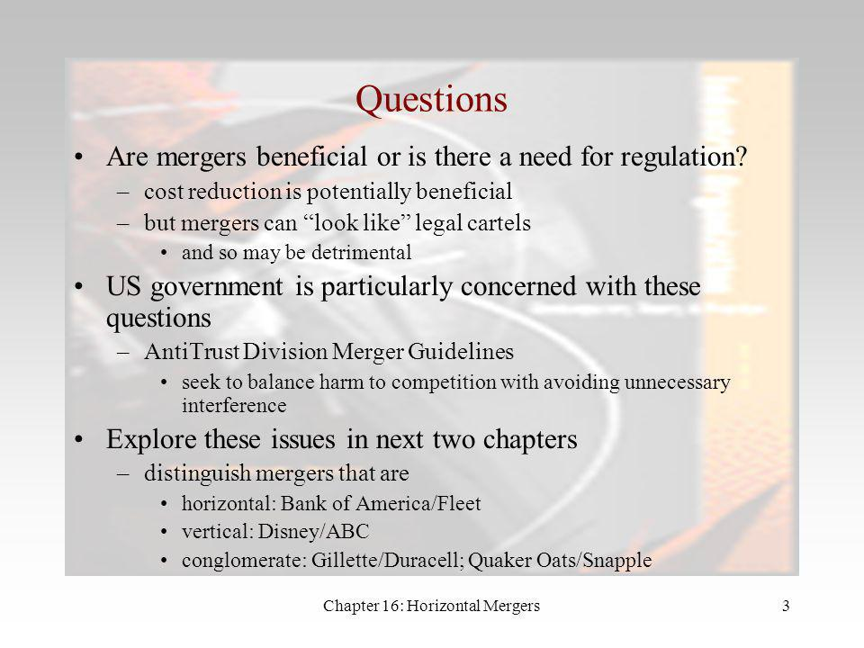 Chapter 16: Horizontal Mergers