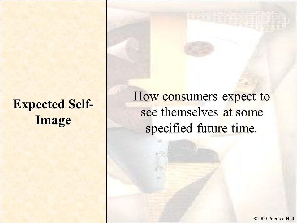 How consumers expect to see themselves at some specified future time.