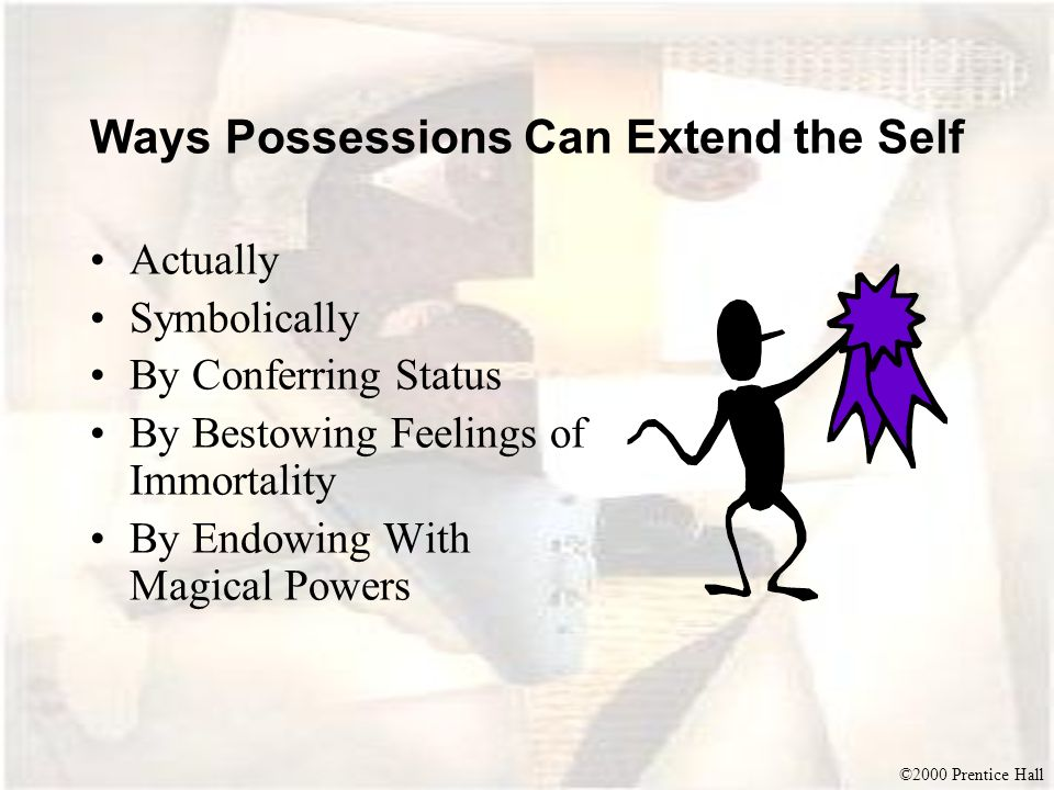 Ways Possessions Can Extend the Self
