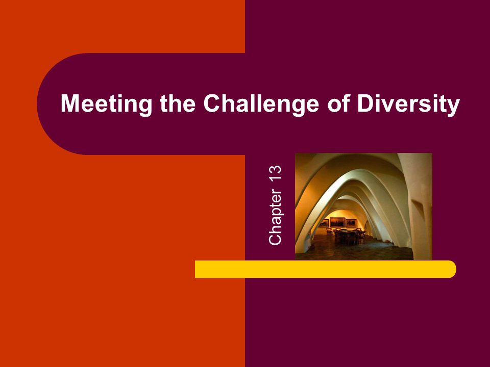 Meeting the Challenge of Diversity