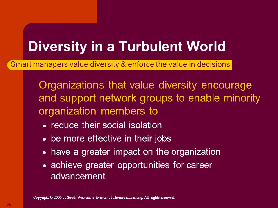 Diversity in a Turbulent World