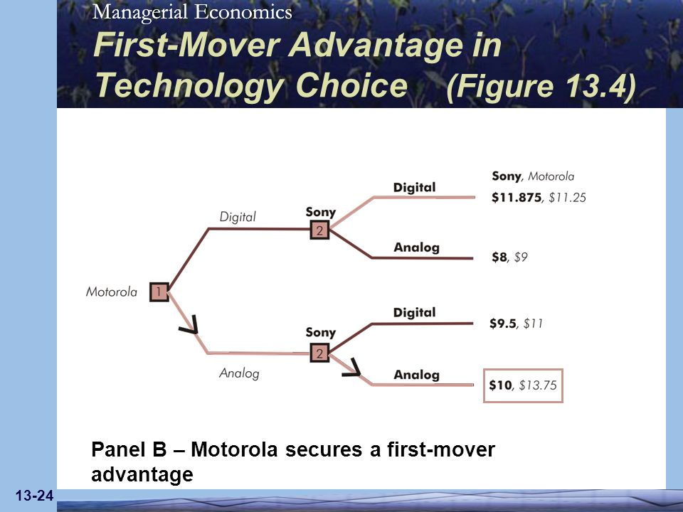 First-Mover Advantage in Technology Choice (Figure 13.4)
