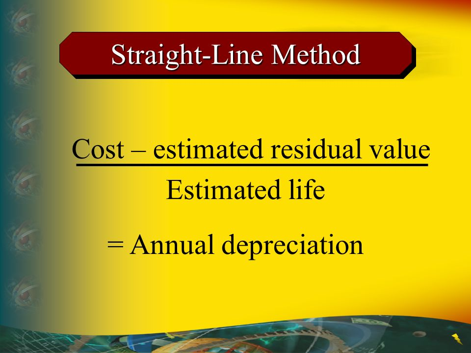 Cost – estimated residual value