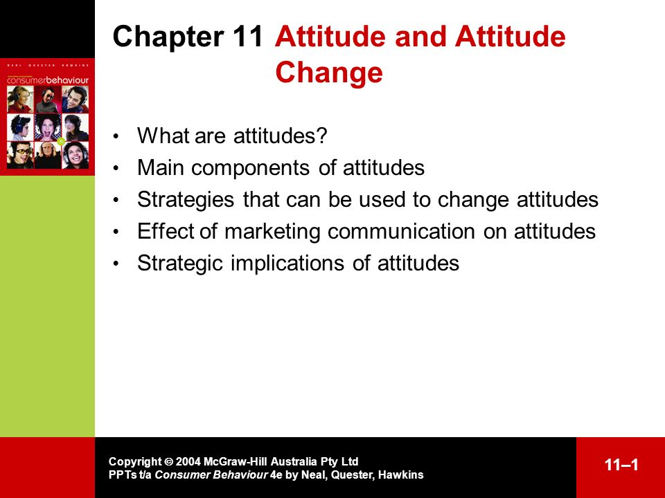 Chapter 11 Attitude and Attitude Change