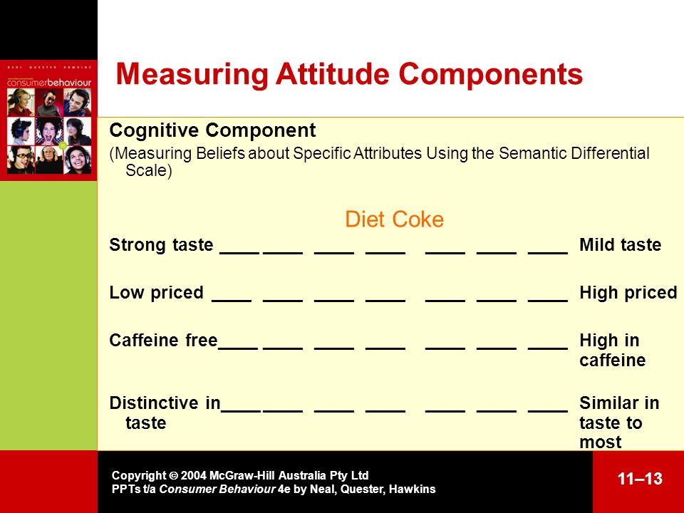 Measuring Attitude Components