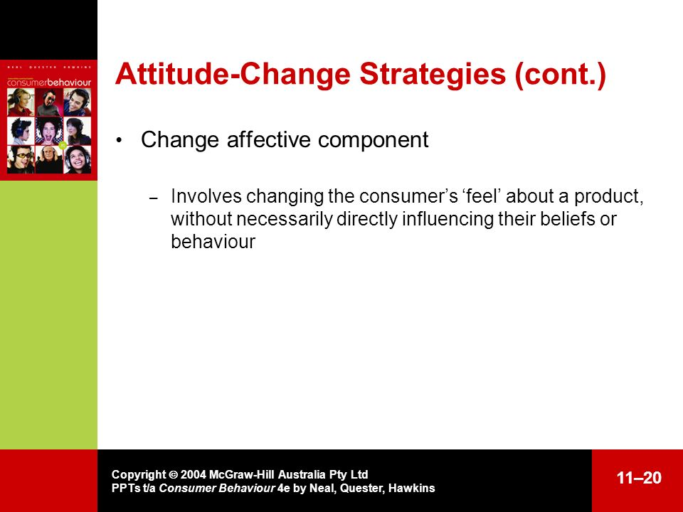 Attitude-Change Strategies (cont.)