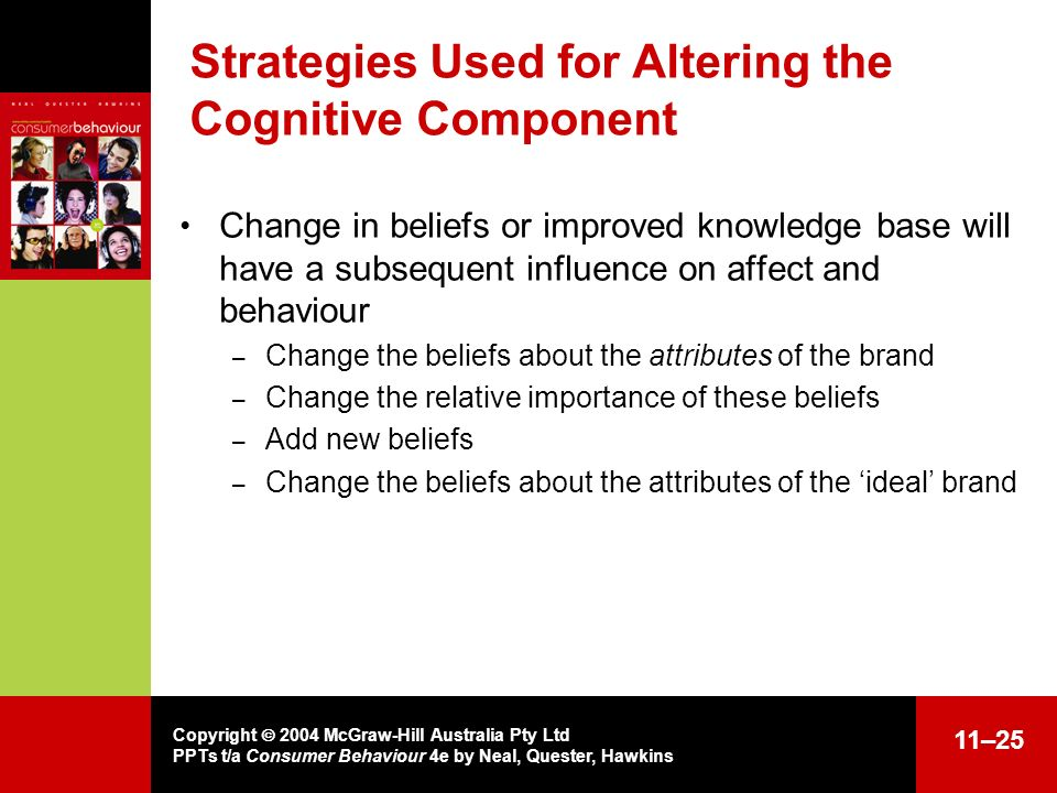Strategies Used for Altering the Cognitive Component